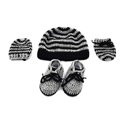 d1ed22466 Magic Needles Handmade Knit Crochet Indian Yarn Baby Booties ...