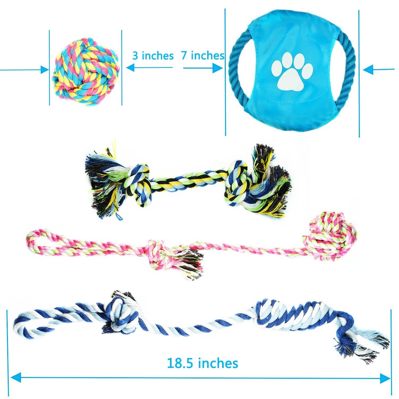 Chien Corde jouet pour les petites et moyennes Chiens Overfly Chien Chiot de dentition jouet à mâcher en corde (lot de 5)