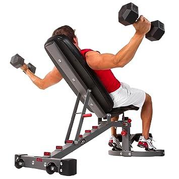 XMark Fitness - Banco de pesas ajustable, calibre 11, 680 kg ...