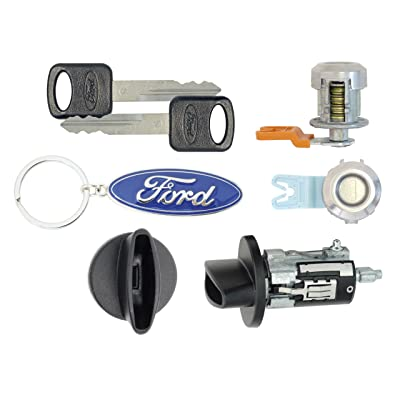 Ford F250 SuperDuty 1999 Pick Up - Ignition Cylinder & 2 Door Locks w/Keys: Automotive