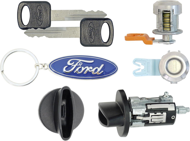 Ignition Cylinder /& 2 Door Locks w//Keys Ford 2005 F250 SuperDuty Pick Up