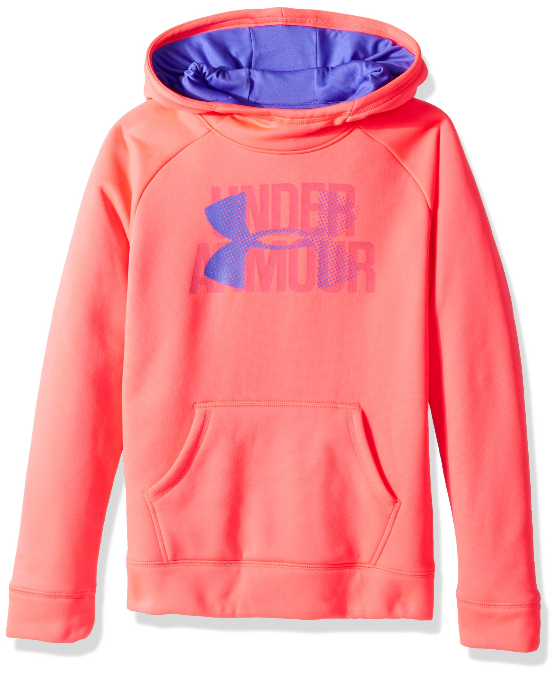 Under Armour Girls' Armour Fleece Big Logo Hoodie, Penta Pink , Youth Small by Under Armour