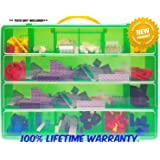 Life Made Better Toy Storage Organizer   Compatible With Lego Building  Bricks   Durable Carrying Case