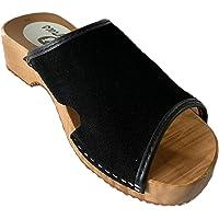 GreenPyrus J1 Zuecos Zapatillas Zapatos de Cuero para Mujer
