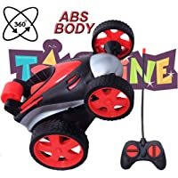 Toyshine Vibe Remote Control Car RC Stunt Vehicle 360°Rotating Rolling Radio Control Electric Race Car Boys Toys Kids RED