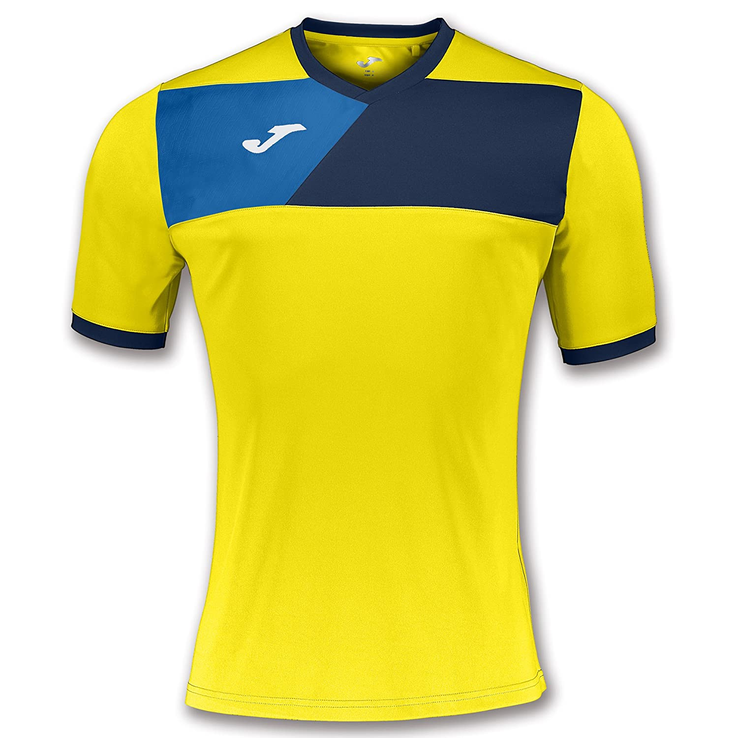 Amazon.com : Joma Teamwear T-Shirt Crew II Short Sleeves Yellow-Navy Uniforms CAMISETAS EQUIP : Sports & Outdoors