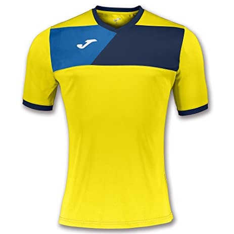 Joma Teamwear T-Shirt Crew II Short Sleeves Yellow-Navy