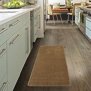 Ottomanson Softy Solid Non-Slip Kitchen/Bath Rug, 2'2
