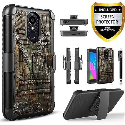 LG K30 Phone Case/LG Premier PRO LTE/LG K30 Plus/LG Phoenix Plus/LG Harmony  2/LG K10 2018, With [HD Screen Protector] Circlemalls Phone Holster
