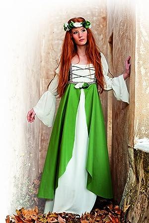 Limit Sport Disfraz medieval Clarisa, para adultos, color verde, talla XXL (MA580