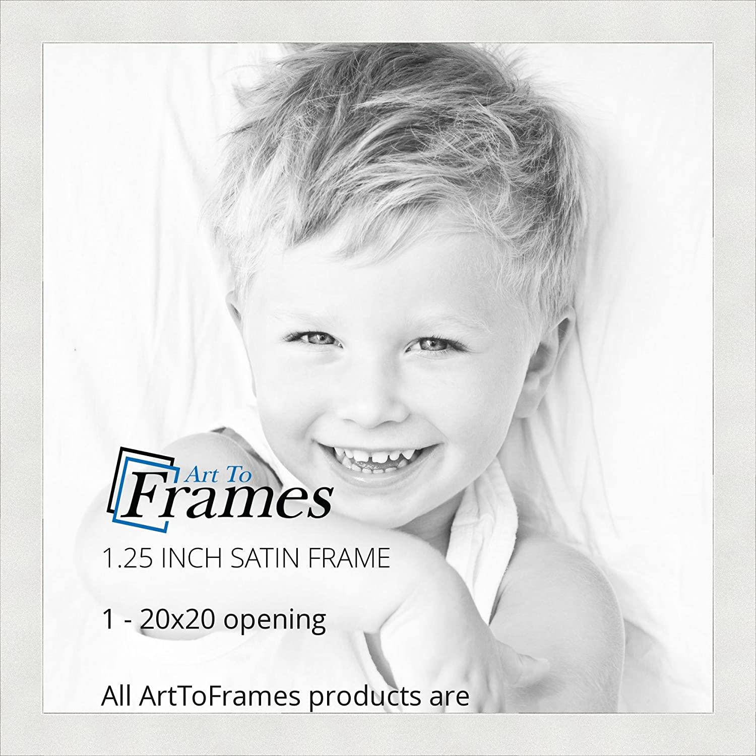 Amazon.com - ArtToFrames 20x20 inch Satin White Frame Picture Frame ...