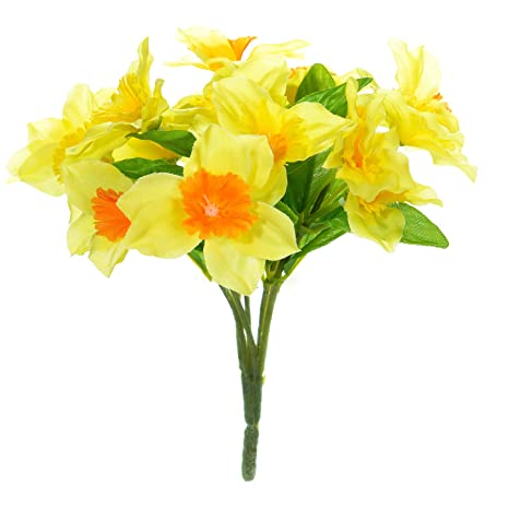 floristrywarehouse artificial mini daffodils 18cm bunch with 15 rh amazon co uk small bunch of flowers crossword puzzle clue small bunch of flowers tattoo