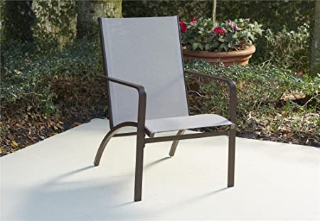 COSCO 88650SBTE Outdoor Living Stone Lake Patio Conversation Lounge Chairs, Tan Brown