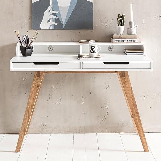 WOHNLING escritorio SKANDI 110 x 85 x 60 cm madera MDF Mesa ...