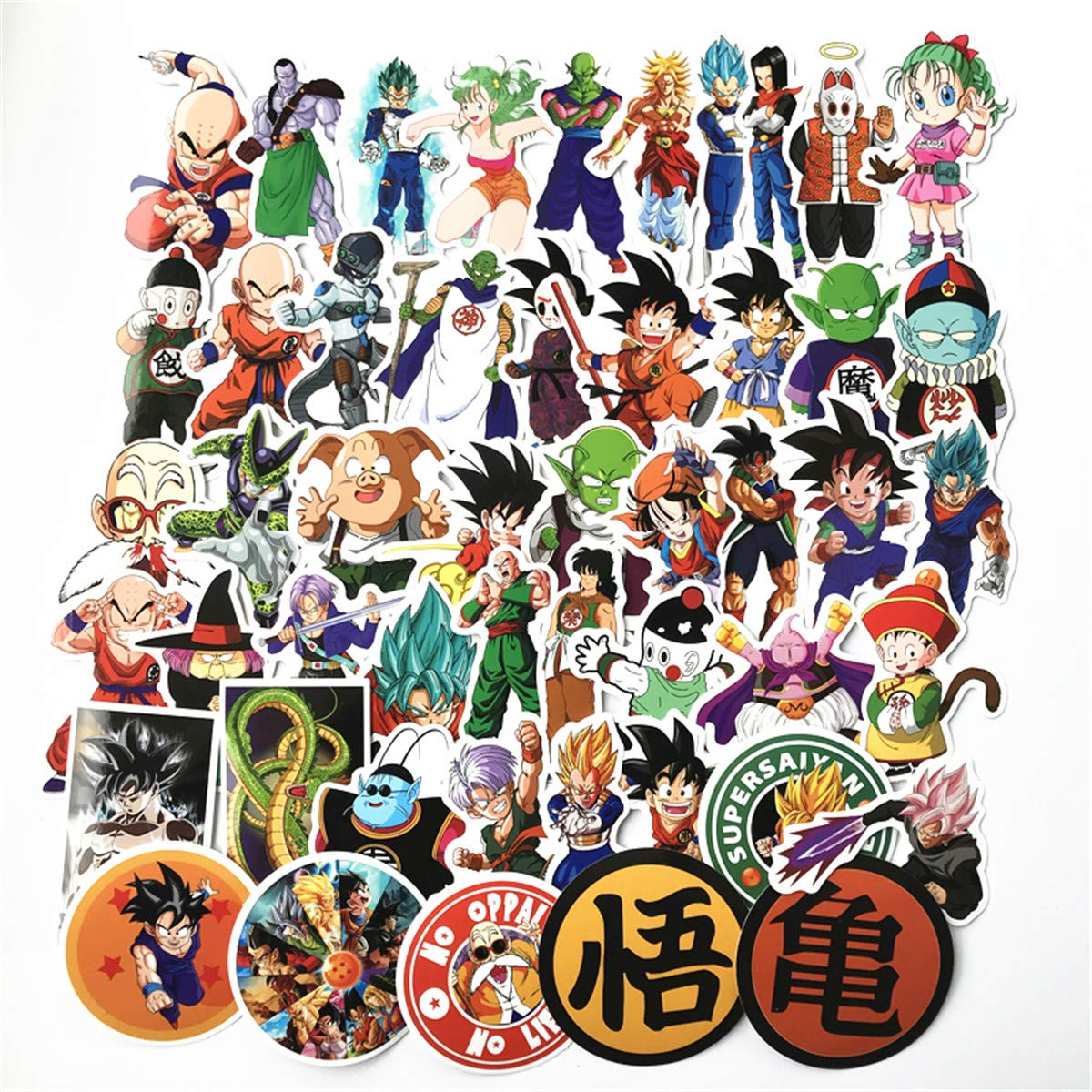 Amazon com dragon ball z sticker sheet 50 piece multicolor dragonball vinyl stickersa toys games