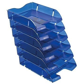Herlitz - Lote de bandejas portadocumentos (6 unidades), color azul