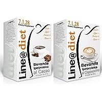 BEVANDE PROTEICHE Line@diet - preparati per Dieta Proteica 10/20 / 30 bustine monodose da € 1,09 (10 bevande CAPPUCCINO + 10 CACAO)