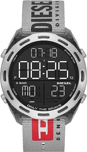 Diesel Men's Crusher Lightweight Nylon Digital Sport Watch