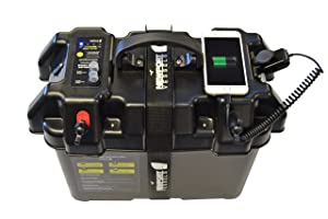 Newport Vessels Trolling Motor Smart Battery Box Power Center with USB and DC Ports