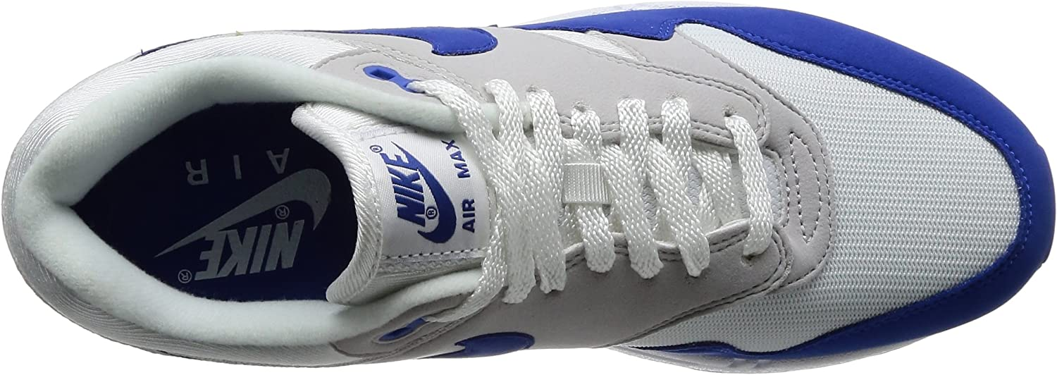 Nike Mens Air Max 1 Anniversary OG White Game Royal Neutral Grey Synthetic