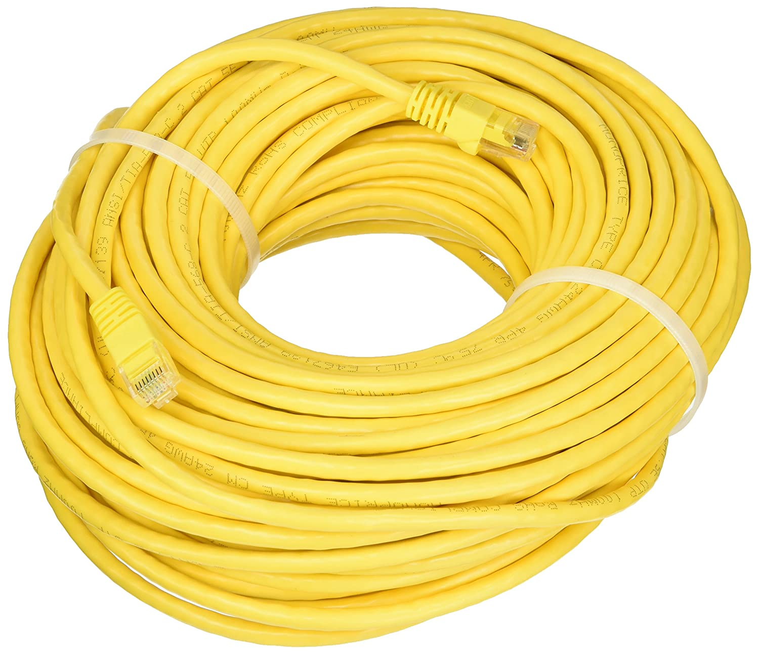 Monoprice Cat5e Ethernet Patch Cable Network Internet Inter Wire White 550mhz 24awg On Connector Wiring Cord Rj45 Stranded 350mhz Utp Pure Bare Copper 100ft
