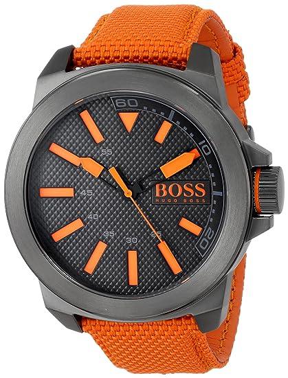 36528fd5551c Hugo Boss Reloj para Hombre Caratula Negra  Hugo Boss  Amazon.com.mx ...