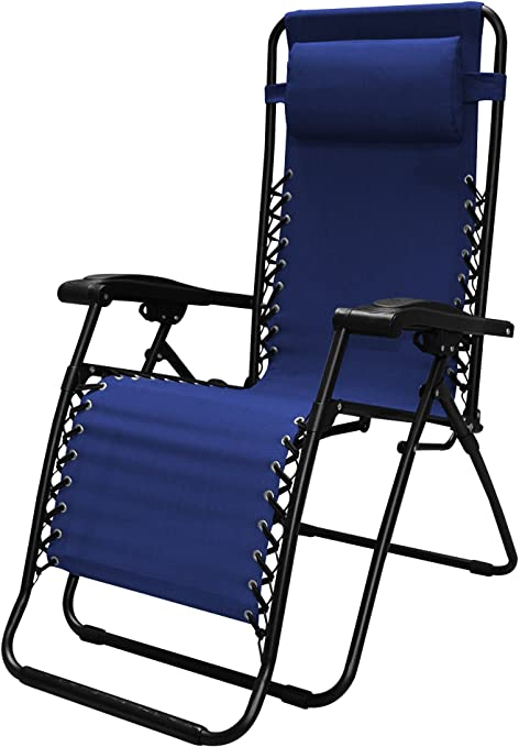 Caravan Sports Infinity Zero Gravity Chair, Blue, 1 Pack