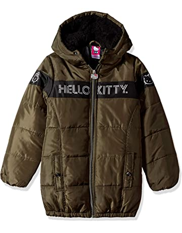 5113ce1bb2e0e Hello Kitty Girls Puffer Jacket with Hood