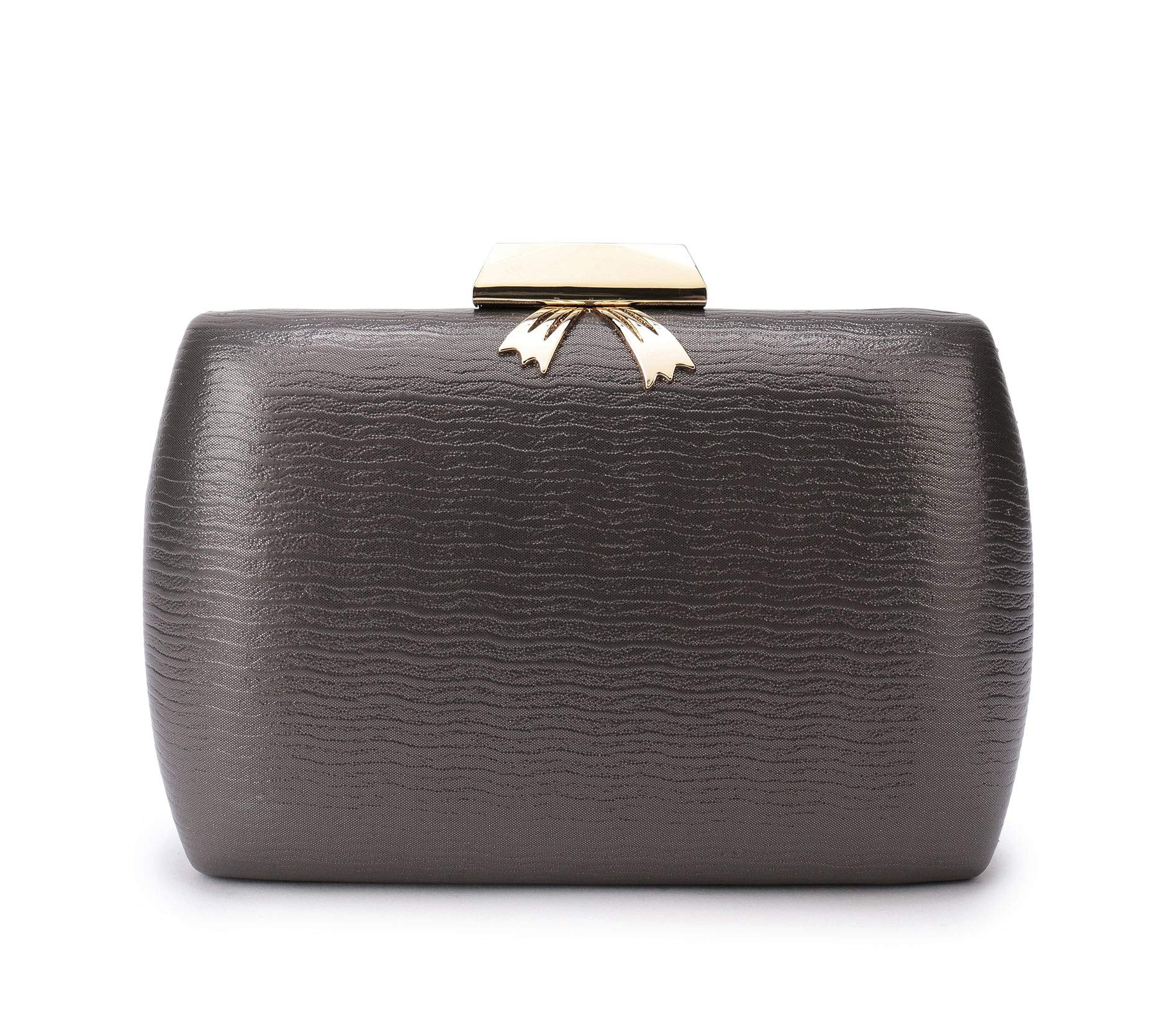 Leather Evening Clutches Handbag Bridal Purse Party Bags For Prom Cocktail Wedding Women/Girls (Copper)