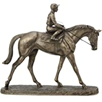 Fiesta Studios Going to The Post by Harriet Glen in Bronzo Cavallo Scultura H22 CM