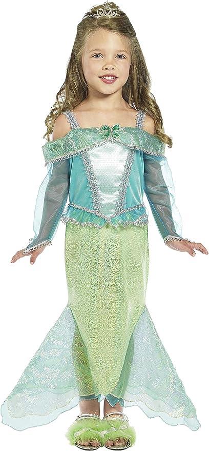 Smiffys Smiffys-36165T2 Disfraz de Princesa Sirena, Vestido con ...