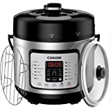 COSORI Electric Pressure Cooker Stainless Steel, Digital 7-in-1 Multi-Use Rice Slow Cookware, 6 Quart/1000W
