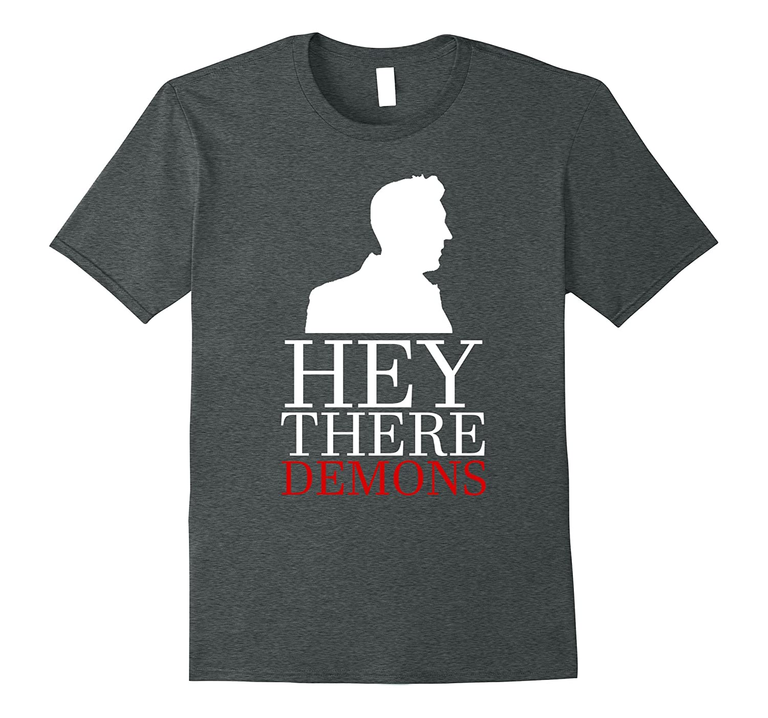 Hey There Demons T Shirt Heather-Tovacu