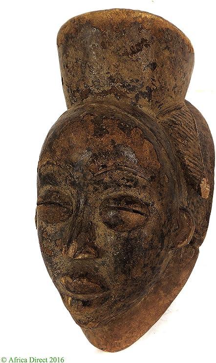 Punu máscara Maiden espíritu Gabón arte africano: Amazon.es: Hogar