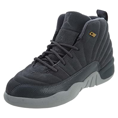 fcc089ca25ae Image Unavailable. Image not available for. Color  Jordan 12 Retro (BP) Little  Kids Shoes Dark Grey Dark Grey Wolf
