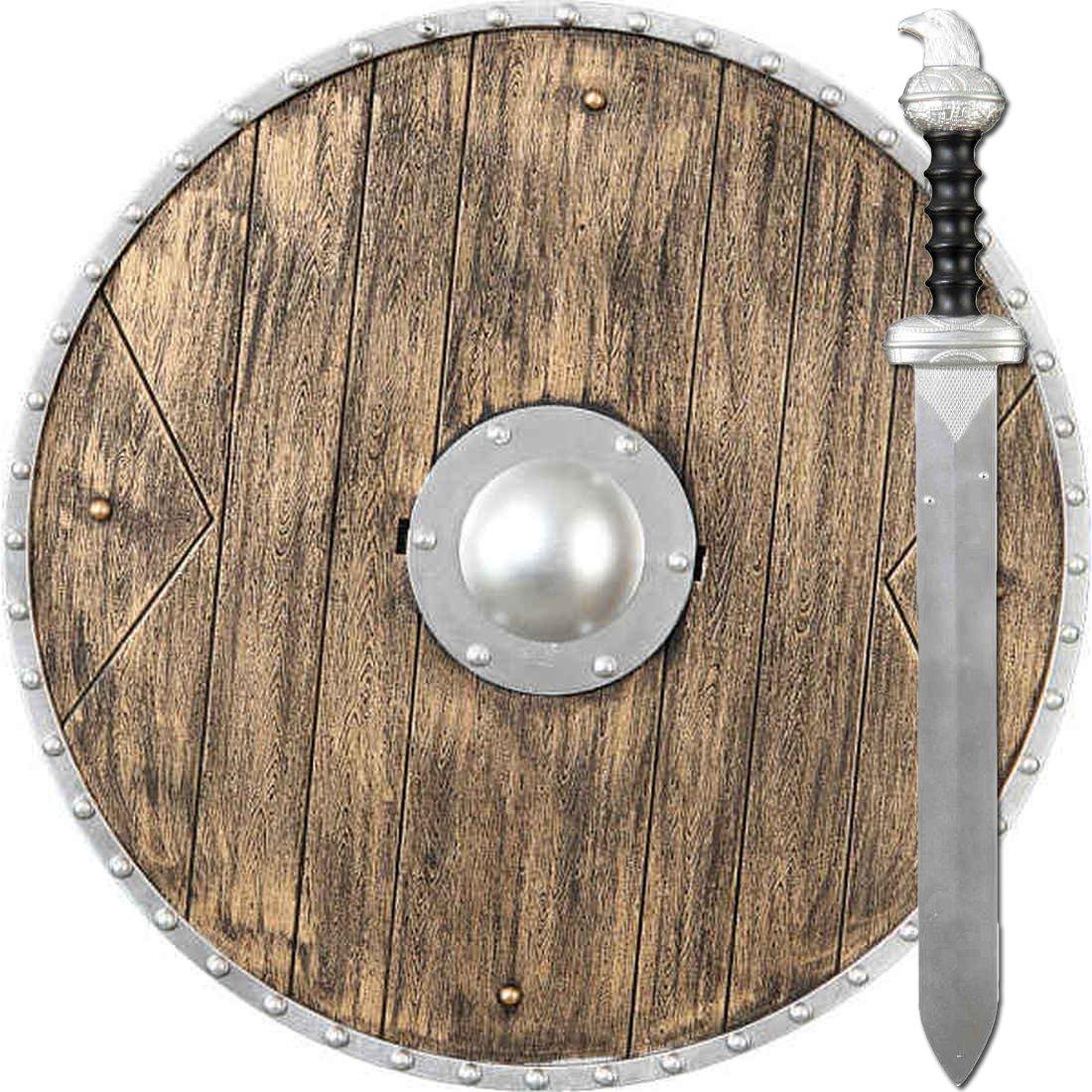Jeu d'armes jouet | Bouclier viking et épée | Accessoire costume normand | Armure viking Amakando