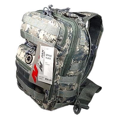 """12"""" 800cu. in. Tactical Sling Shoulder Hiking Backpack TL312 DM DIGITAL CAMOUFLAGE"""