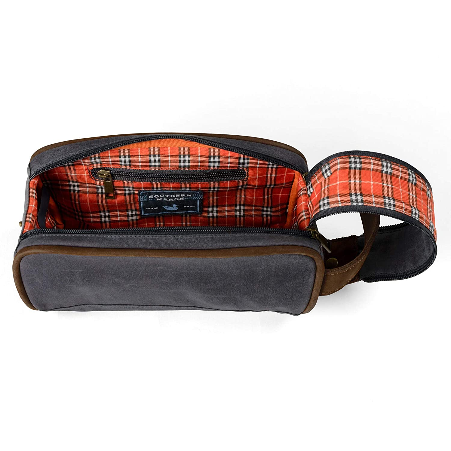 Southern Marsh Dewberry Waxed Travel Kit-Navy