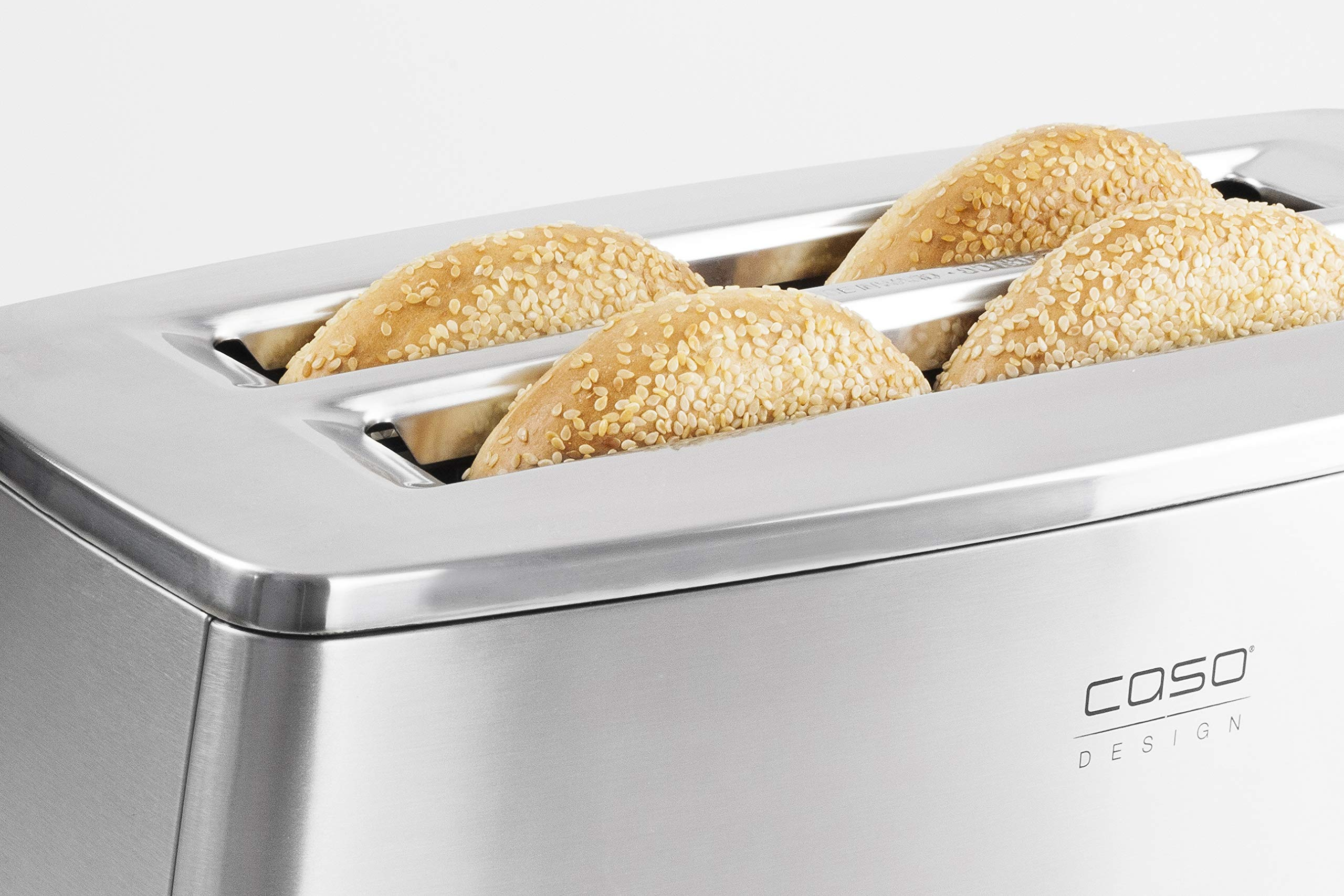 Caso Design INOX.4 Four-Slice Toaster with Wire Warming Basket Attachment, 4, Stainless by Caso Design (Image #4)