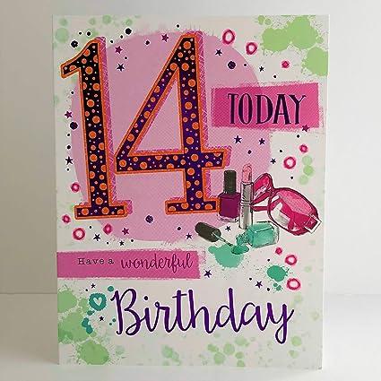 Tarjeta de cumpleaños para niña de 14 años con gafas de sol ...