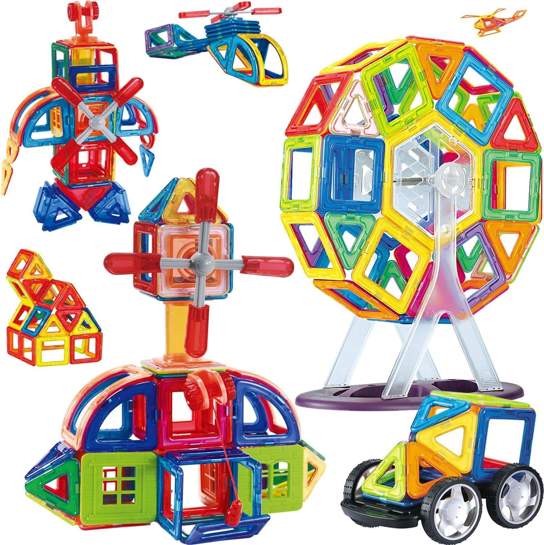 34 Piece Magnet Tiles Magnetic Building Blocks For Kids Set FAST SHIP!!!