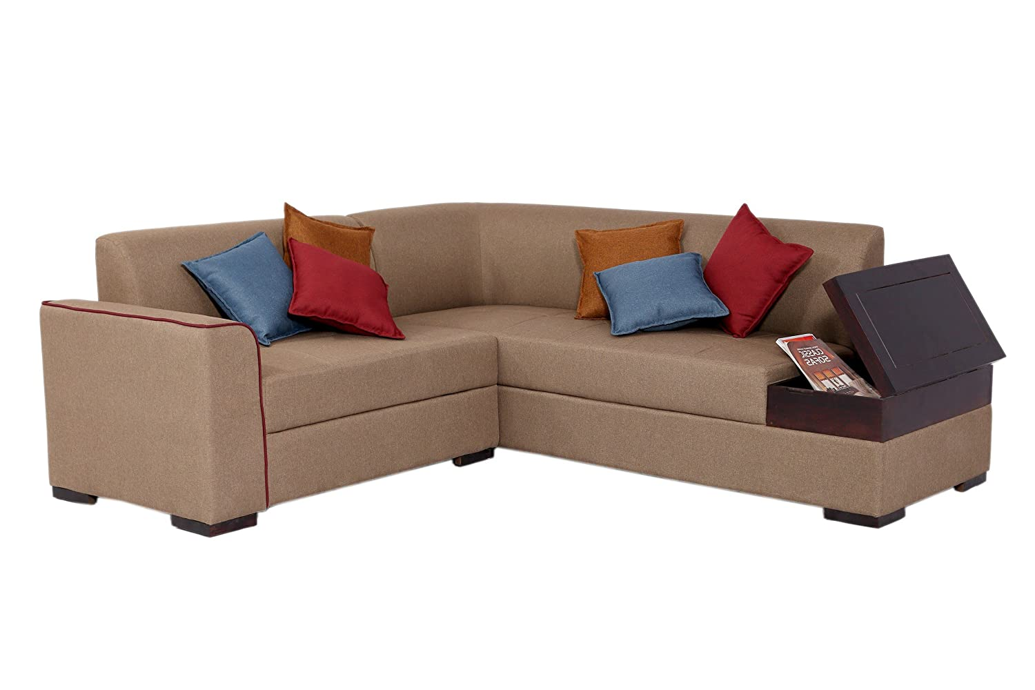 Muebles Casa Coral CASA005 Five Seater Sofa with Storage (Light Brown)