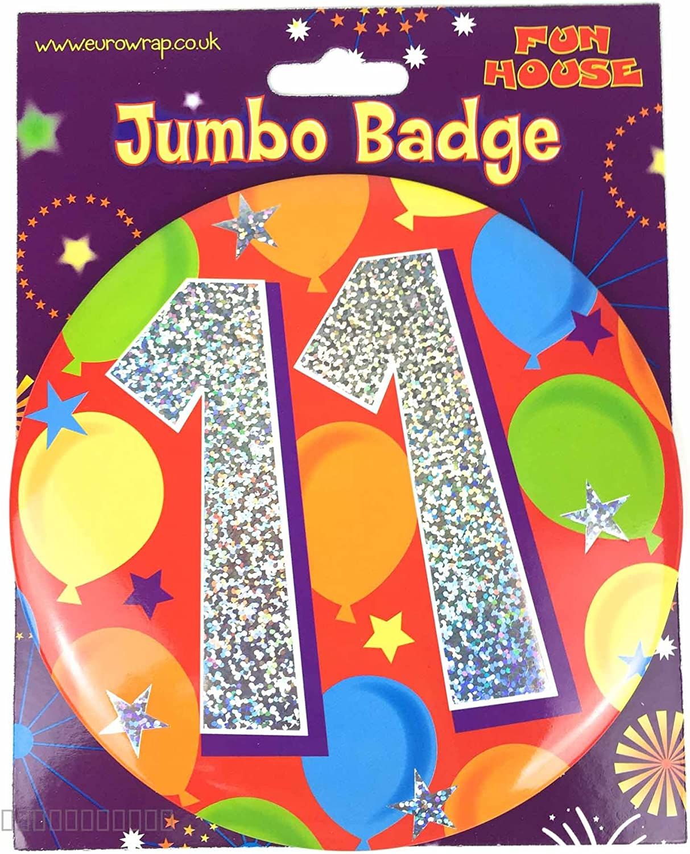 Giant 3D Age 9 Birthday Badge Boy