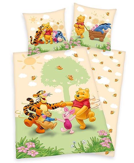 Winnie The Pooh Wende Bettwäsche 80x80 135x200 100 Baumwolle Mit
