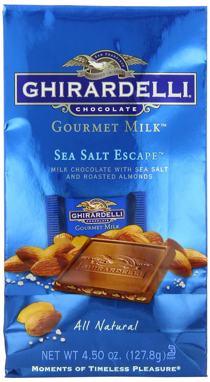 Amazon.com : Ghirardelli Chocolate Gourmet Milk Squares, Sea Salt ...