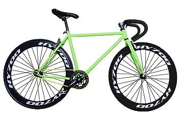 Fixie Helliot Brooklyn H36 - Bicicleta Fixie, Cuadro de Acero, Frenos V- Brake