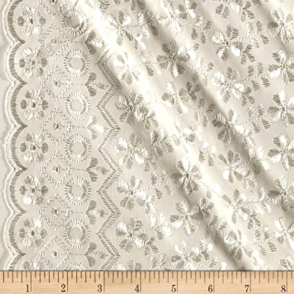 5d90b42a815a4e Image Unavailable. Image not available for. Color: Ben Textiles Heavy Cotton  Eyelet Ivory Fabric ...