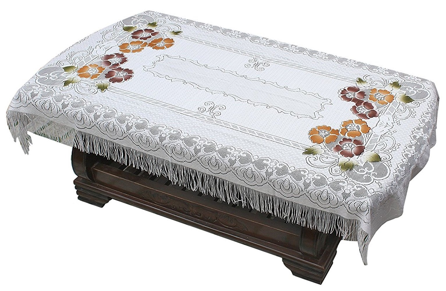 419edf7df34 Yellow Weaves 4 Seater Polyester Transparent Center Table Cover ...