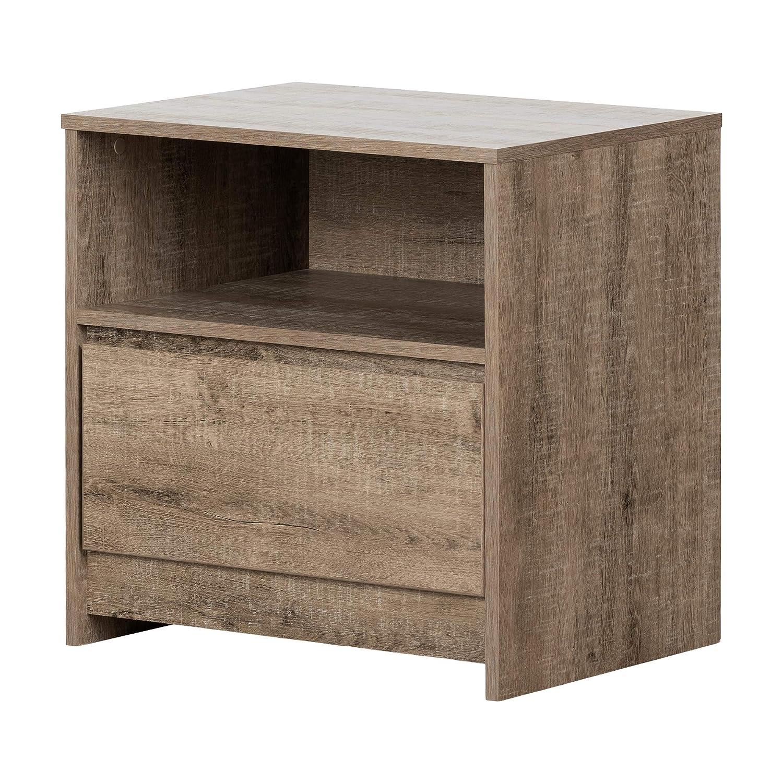 South Shore Furniture 12465 Sazena 1-Drawer Nightstand-Weathered Oak