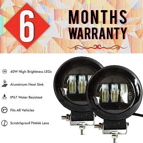 bc4d987e5 AllExtreme EX4IFL2 3 LED Headlight Lamp Universal Waterproof Off ...